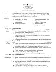 nanny resume example