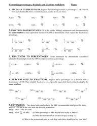 Fractions and Decimals Worksheets - kativowel : PegitboardConverting percentages, decimals and fractions worksheet - Fractions and Decimals Worksheets