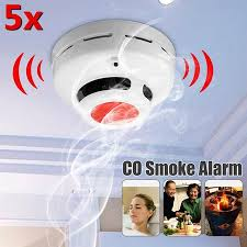 <b>5Pcs</b> 2 in 1 SMT Combination Co Carbon Monoxide & <b>Smoke Alarm</b> ...