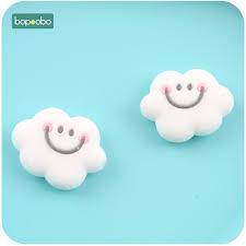 <b>Bopoobo 5pc</b> BPA Free <b>Silicone</b> Beads Mini Cloud Baby Teething ...
