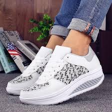 <b>VTOTA Women</b> Casual Shoes <b>Platform</b> White Sneakers Designer ...