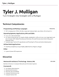 help me create a resume exons tk category curriculum vitae