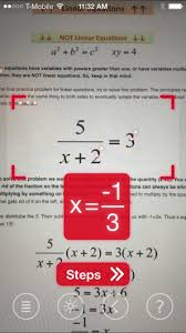 use your iphone s camera to solve difficult math problems a breakdown of how the equation was solved a necessary feature for helping you actually learn how to solve it as opposed to simply getting the answer