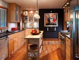 beech wood kitchen cabinets: the floors throughout the one story ranch are fsc certified cherry wood kitchen cabinetry is made from natural beech wood the counters are a brushed