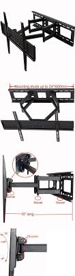 sense patented heavy duty black wall mounted tv mounts and brackets videosecu tilt swivel tv wall mount   lcd led
