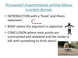 """argumentative writing a fast food example will be used as an  persuasive argumentative writing follows a certain format introduction  a """"hook"""" and"""