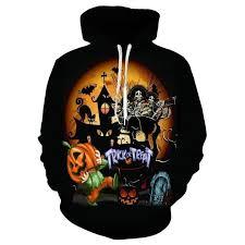 Casual 3D <b>Digital Print Halloween Pumpkin</b> Sweatershirt