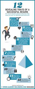 best images about job interview tools interview 12 revealing traits of a successful resume infographic