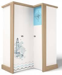 Детский <b>шкаф угловой</b>, <b>гармошка ABC</b>-<b>King</b> MIX Ocean правый ...