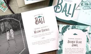 short invitation custom gallery anticipate invitations tropical bali booklet wedding invitation