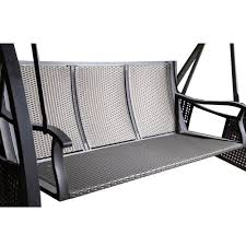 classic black metal awning lazy scrolls abba patio porch swing with stand