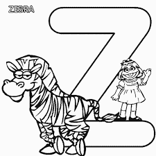 Small Picture Sesame Street Free Alphabet Coloring Pages Alphabet Coloring
