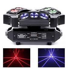 Top-Uking <b>DMX512 RGB</b> LEDs Moving Head Stage light 27W <b>Mini</b> 9 ...