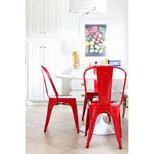 xavier pauchard tolix style metal side chair red chairs xavier pauchard
