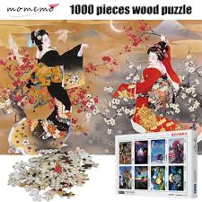 <b>MOMEMO</b> Japanese Geisha Puzzle 1000 Pieces Wooden ...