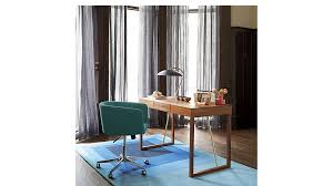 coup teal office chair cb2 office