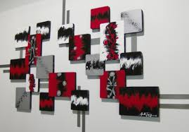 black and red wall decor if black and red furniture