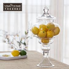 decorative glass jars lids