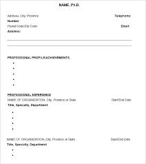 CV Templates         Free Samples  Examples  Format Download   Free     Template net Sample Resume Ph D CV Template