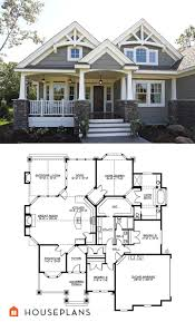 ideas about House Plans on Pinterest   Floor Plans  Square    Craftsman Plan       Great bones  Could be changed to bedroom