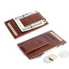 <b>Wholesale</b>- High Quality <b>genuine leather money</b> clip wallet famous