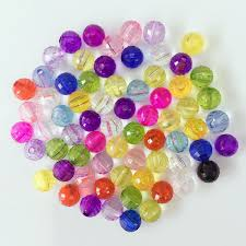 <b>1000Pcs</b>/ <b>lot Mixed</b> Colorful 96 FACETED Round Beads <b>6mm</b> Hot ...