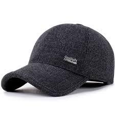 <b>SUOGRY 2018 New</b> Men Baseball Cap Winter Warm Earmuffs ...
