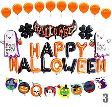 <b>Halloween</b>/Festival Party Accessories Balloon <b>Patterned</b> Aluminium ...
