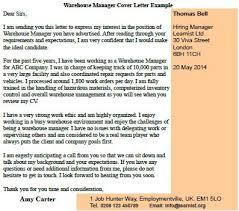 warehouse manager cover letter example   job seekers forumsview more cover letter examples