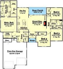 images about Let    s build a house  on Pinterest   Floor Plans    Plan HZ  Attractive Bedroom Split Bedroom House Plan