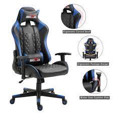 Luxury <b>Executive Racing</b> Gaming <b>Office</b> Chair Rock Lift Swivel ...