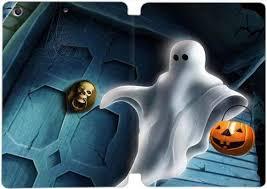 ipad mini 1/2/3 <b>case</b> ,<b>halloween</b>-<b>cartoon</b>-ghost-wooden-door ...