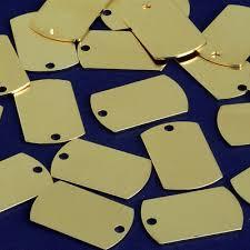 25*16mm Brass <b>Bar pendant Personalized</b> Stamping <b>Blank</b> Bar ...