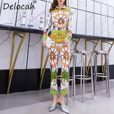 2019 <b>Delocah Women Spring Summer</b> Set Runway Fashion ...