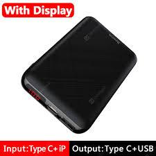 Baseus <b>Mini</b> 10000mAh <b>Power Bank</b> USB C PD Poverbank LCD ...