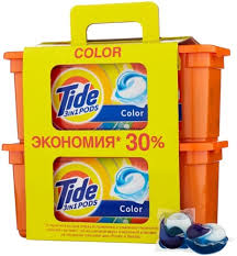<b>Капсулы для стирки TIDE</b> 3 in 1 Pods Color, 60 капсул - купить ...