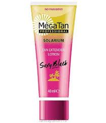 "MegaTan <b>Лосьон для продления</b> загара ""Sexy black - Tan extender"""