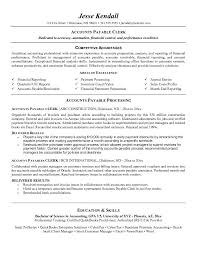 accounts payable clerk resumefree resume templates