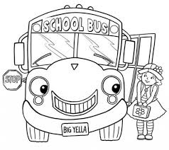 Small Picture Little Girl And School Bus Coloring Page Transportation Coloring
