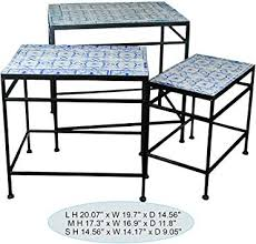IMAX 80037-<b>3</b> Peacock <b>Mosaic Tables</b> (Set of <b>3</b>): Amazon.ca: Home ...