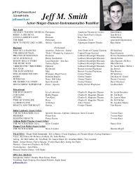 musical theater resume newsoundco child sample musical theatre resume
