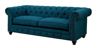 Teal Color Schemes For Living Rooms Teal Living Room Furniture Of America Stanford Dark Teal Fabric