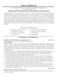 transportation resume examples  transportation manager resume    transportation logistics resume examples