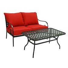 draper style s wrought iron patio garden treasures yorkford  piece steel patio conversation set