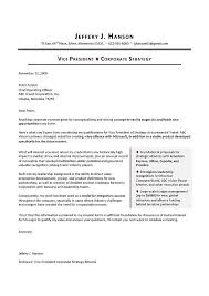 sample cover letter for vp corporate strategy   executive resume    sample cover letter   cover letter writing for executives