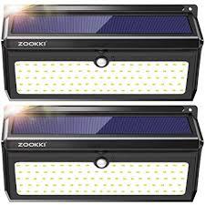 Solar <b>Lights</b> Outdoor, ZOOKKI <b>100 Led Solar</b> Motion Sensor <b>Light</b> ...
