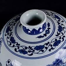 PeaceipUS Ceramic Vase Hand-Painted Blue and ... - Amazon.com