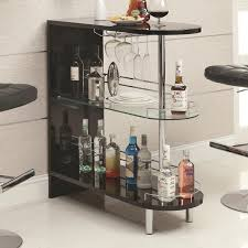 full size of kitchen modern black home bar table set tempered glass shelves underneath metal arched table top wine cellar furniture
