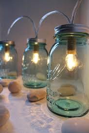 mason jar lights string of three blue mason jar lamps table lamp desk lighting rustic bootsngus mason jar lights bulbs included blue mason jar string lights