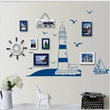 Small Picture Aliexpresscom Buy Blue Ocean lighthouse Seagull photo frame DIY